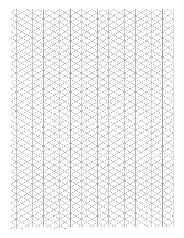 Clever image inside printable isometric graph paper